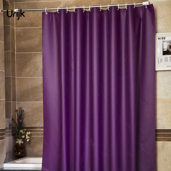 Urijk 1PC Modern Style Purple Bathroom Shower Curtains for Bath Waterproof Fabric Solid Bathroom