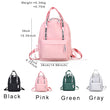 VEISK School Backpack For Teenage Girls Nylon Casual Schoolbag Women Backpack Solid Pink Famous