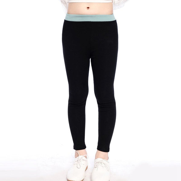VOGUEON Mother and Daughter Clothes Girl Active Yoga Cotton Leggings Family Match Contrast Color High Waist Skinny Stretch Pants