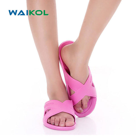 Waikol Women Shoes Hot New Summer Flats Sandals and Slippers Non-slip Bathroom Slippers Home