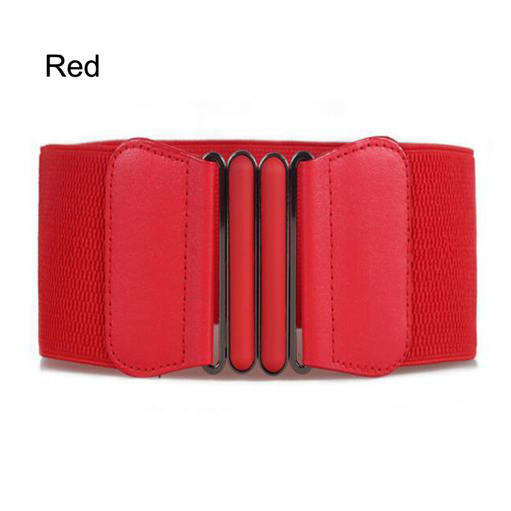 fbe3d3e6f Waist Belts Women Skinny Elastic Ceinture Fashion Lady Stretch Elastic  Leather Wide Belt Dress Adornment For Femme Waistband – Beal | Daily Deals  For Moms