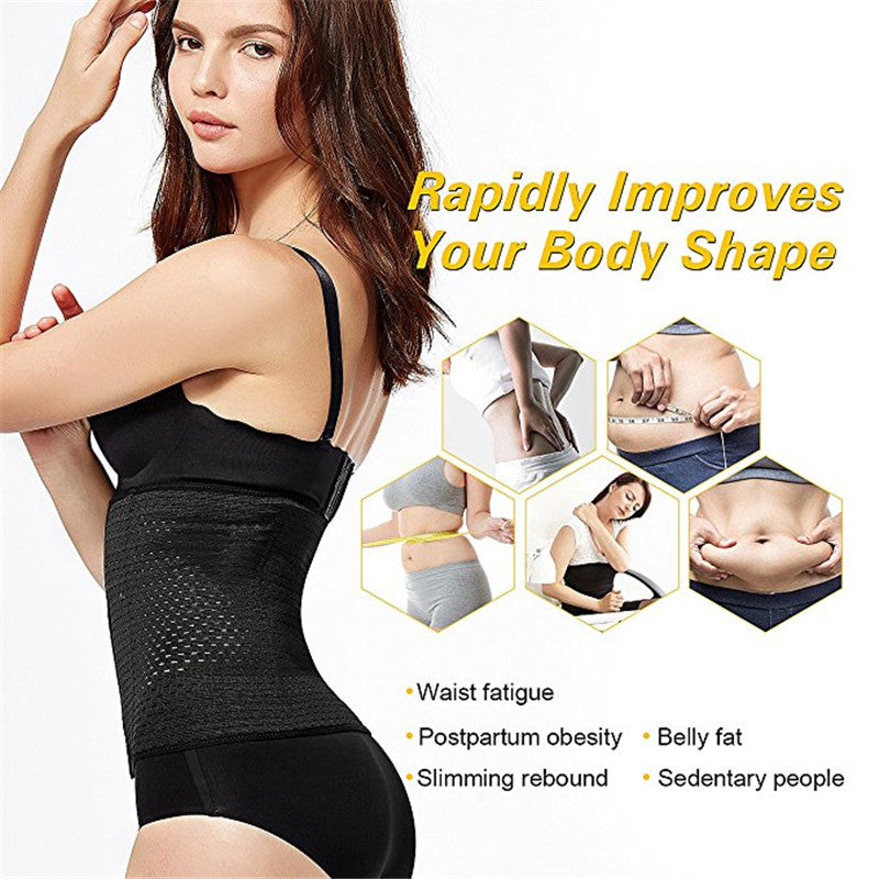 05b1c12aff7 Waist Trainer Belt Corsets Steel Boned Hot Body Shaper Women Postpartum  Belly Band Sexy Corselet Bustiers Corsage Modeling Strap – Beal