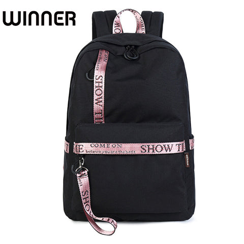 Waterproof Fabric Women Daily Backpack Casual Printing School Backpack Bag for College Girls &