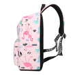Waterproof Women Backpack Cute Bookbag Pink Flamingo Animal Knapsack Printing School Bagpack Bag
