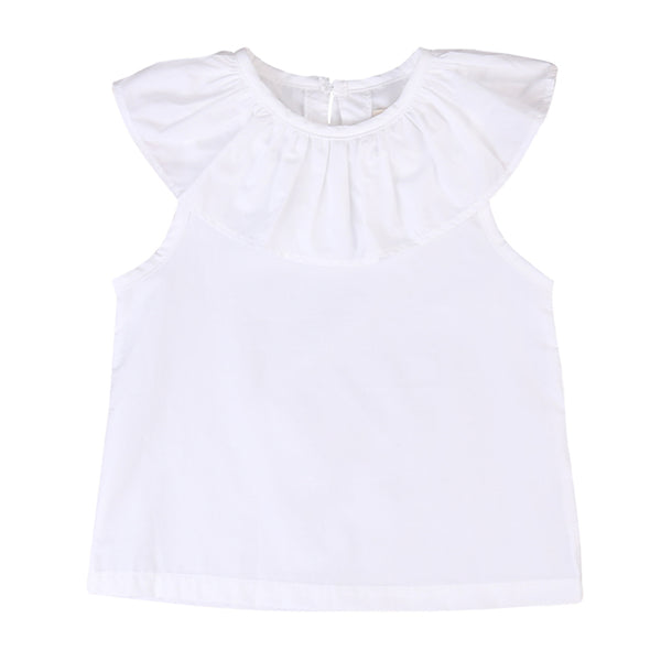 White T-shirts Tops 2018 New Fashion Toddler Kids Baby Girls Lotus Leaf Shirt Tops Summer Cotton