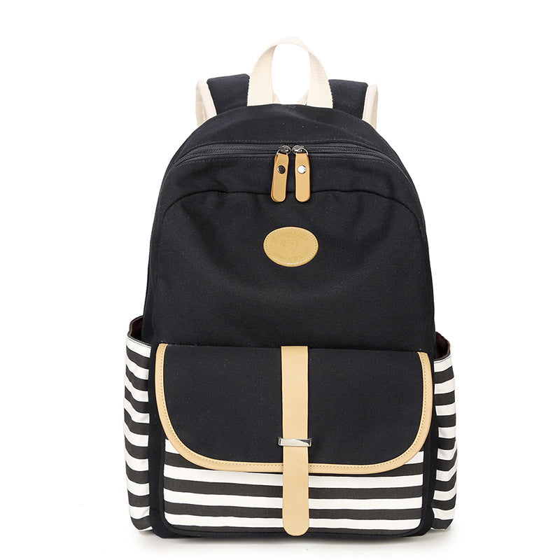 Winner Brand College Striped Women Travel Backpack Daily Book Bags ... b1d234bcc5