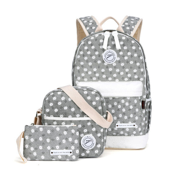 Winner Canvas Floral Printing Backpack Women School Bags for Teenage Girls Fresh Rucksack Laptop