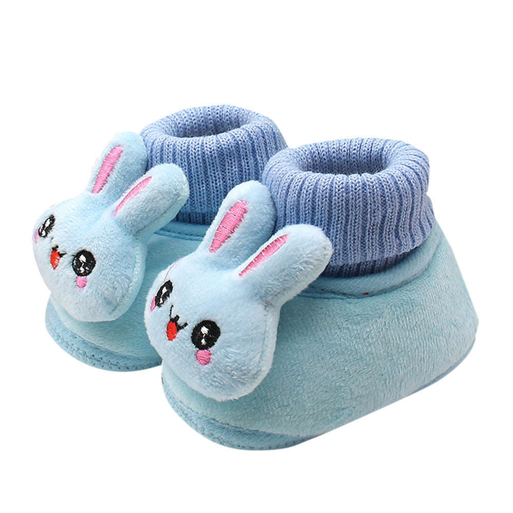 39ee9f4f851b7 Winter Cute Rabbit Anima Style Baby Boots Fleece Worm Cotton-padded Shoes  Baby Booties Wholesale