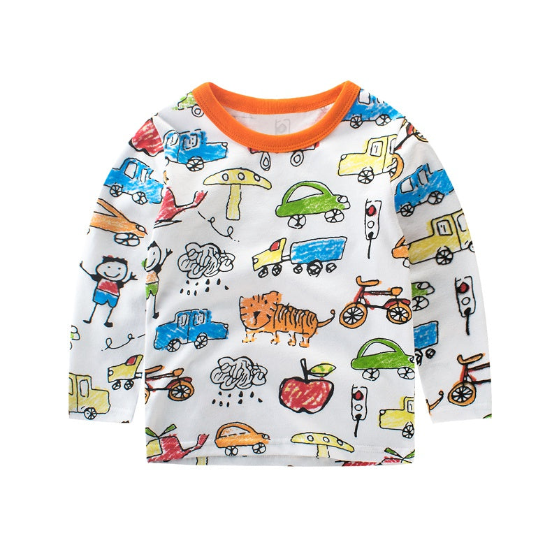 a50d174de3df Winter Kids Boys Sweater Animal print Long Sleeve Baby Girls Casual Autumn  Shirts Cotton Children's Pullover Tops – Beal | Daily Deals For Moms