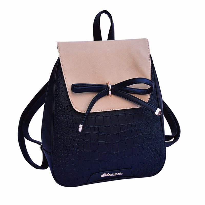 7246a9e02 Women Backpacks 2018 New Fashion Girl Little Casual Leather Backpack School  Bag Shoulder Zipper Bags Black – Beal   Daily Deals For Moms