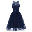 Women Dress Summer Sleeveless Sexy Party Dress A-Line O Neck Stylish Vintage Elegant