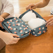Women Portable Underwear Bra Boxes Female Nylon Waterproof Packing Organizers Bins Fashion Makeup  Bags Cosmetic Travel Bag