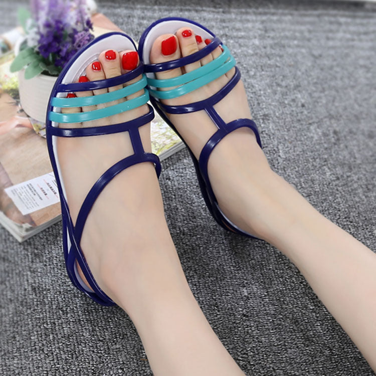 5db6f6fdf9b45 Women Sandals Summer New Candy Color Women Shoes Peep Toe Stappy ...