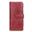 Women Wallet Luxury Brand Genuine Leather Long Female Clutch Wallet High Capacity Ladies Purse
