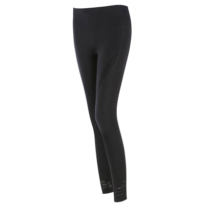 Women's Butt Lift Sport Leggings Hollow Out Fitness Gym Leggings Seamless Slim Compression