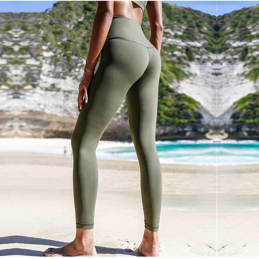 3d4c7edaf8c2b Women's High Waist Yoga Leggings Compression Tummy Control ...