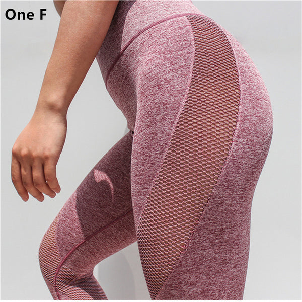 Women's Side Hole Leggings High Waist Tummy Control Yoga Pants Gym Clothing Strech Booty Lift