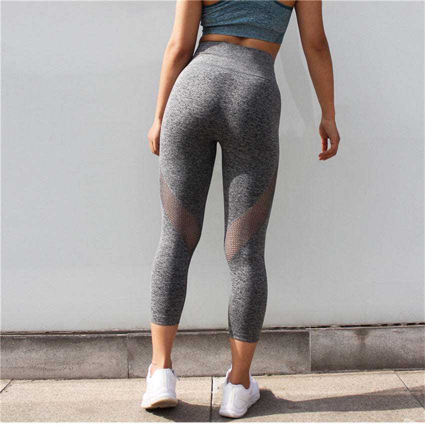 6b560ccdd82da6 Women's Side Hole Leggings High Waist Tummy Control Yoga Pants Gym  Clothing Strech Booty Lift Compression Fitness Sports Capri – Beal | Daily  Deals For ...