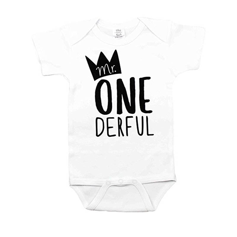 YSCULBUTOL Mr One Derful Baby Boys 1st Birthday Bodysuit First Birthda Beal