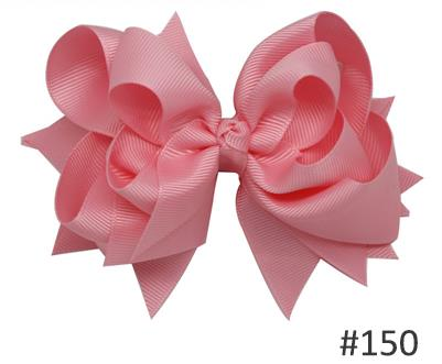 Your Bows 1PCS 5Inches Girls Boutique Hair Bows With Hair Clips 100% Ribbon Bows Hairpin Children