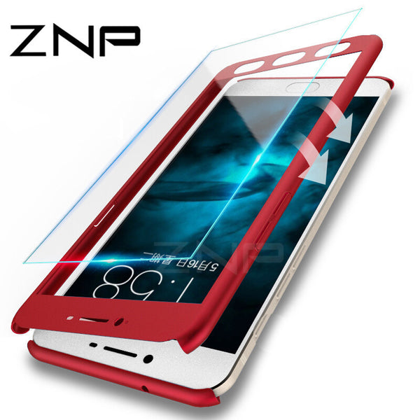 ZNP 360 Degree Protection Case For Xiaomi Redmi 4X 4A 5A With Tempered Glass Cove Case For Xiaomi Redmi Note 5A 4X Phone shell