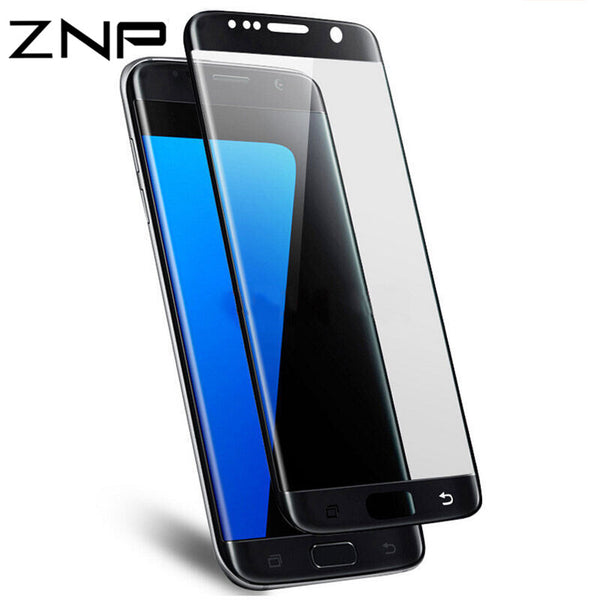 ZNP 3D Curved Full Cover Tempered Glass For Samsung Galaxy S7 S6 Edge S7 Screen Protector For Samsung S6 S7 Edge Protective Film