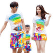 family matching clothes set cotton rainbow set for mother father clothes family clothes set matching mother daughter clothes
