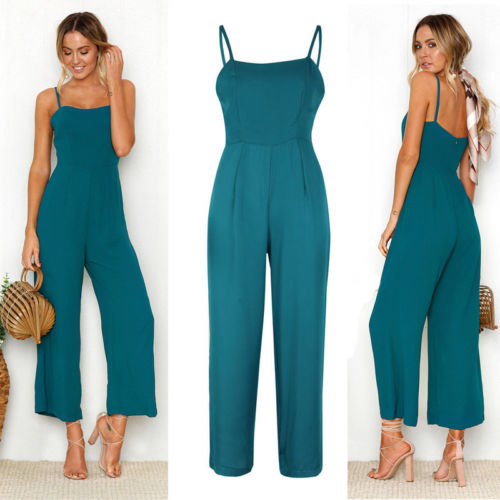 d7f0c42fe55 hirigin Women Fashion Slim Sleeveless Suspender Jumpsuit Casual Rompers  Size S to XL