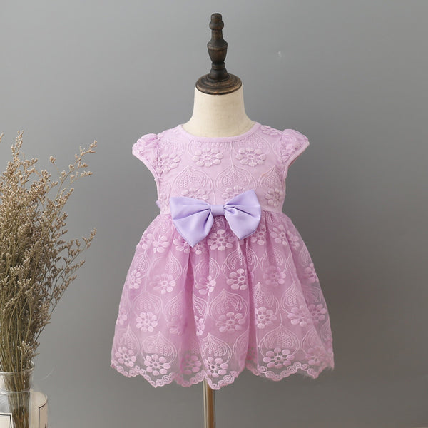 infant clothes girl summer baby girls dress Kids white first birthday one year lace Cute party dresses Newborn princess wear