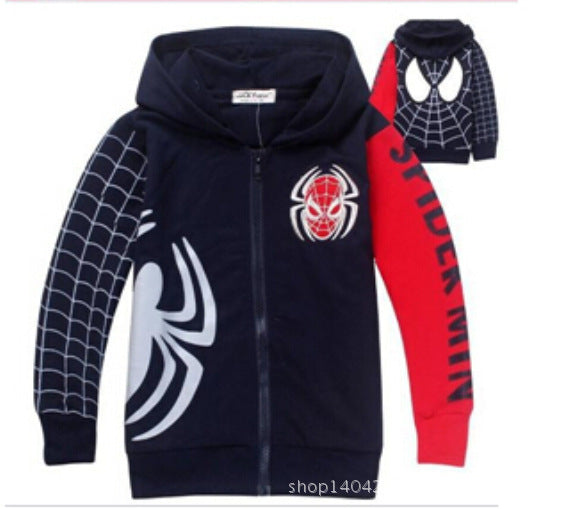 new hot Spring Autumn Children's Coat boys embroidered hoodie jackets Kids cartoon Clothes
