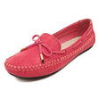 YAERNI Candy Color Women Loafers Tassel Fashion Round Toe Ladies Flat Shoes Woman Sweet Bowtie Flats Casual Shoes