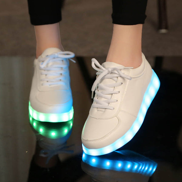 usb led shoes children's luminous shoes sneakers with kids light up shining glowing shoes for