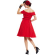 vintage dress 1950s style spring pin up women party red dress 2018 summer elegant