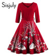 vintage dresses autumn women v neck floral print a line belt patchwork elegant female