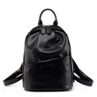 women leather backpacks solid female anti-theft bags small travel school bag for girls feminine