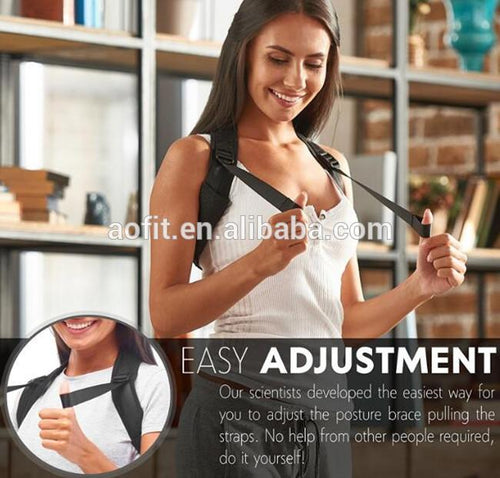 Dragon78 Unisex Back Posture Corrector - Effective and Comfortable Posture Brace to Prevent Slouching & Hunching - Discreet Design - Clavicle Support