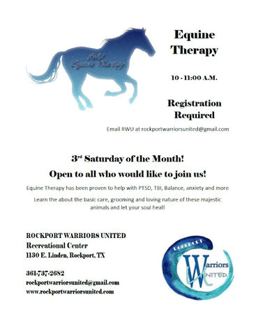 Equine Therapy 3rd Saturday at 10am