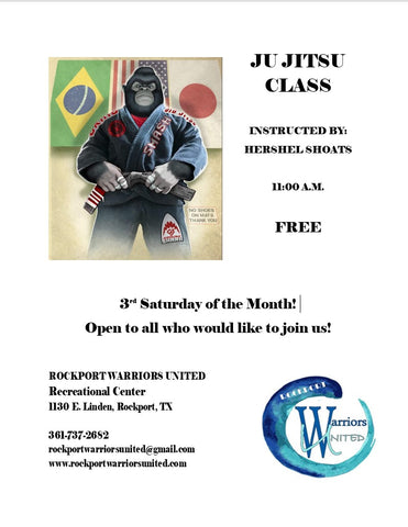 JuJitsu Class 3rd Saturday at 11am