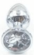 Jeweled Stainless Steel Princess Plug, 12 Colors 3""