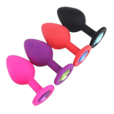 3 Sizes Random Color Jeweled 3 Colors Silicone Plug