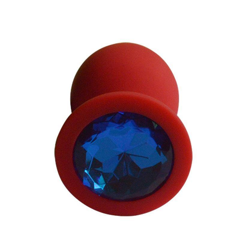 "4 Random Colors 3"" Silicone Jeweled Plug"