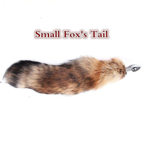"14"" Brown Cat Tail Alloy Chrome Plug"