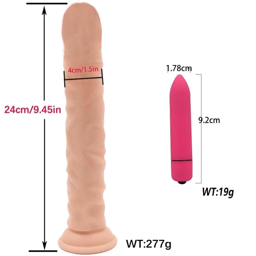"7.2"" - 9.4"" Large Realistic Dildo Anal Plug with Suction Cup"