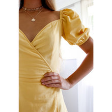 MEGAN WRAP DRESS YELLOW