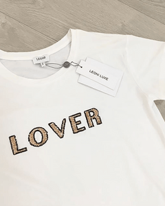 Lover Sequin Tee - White