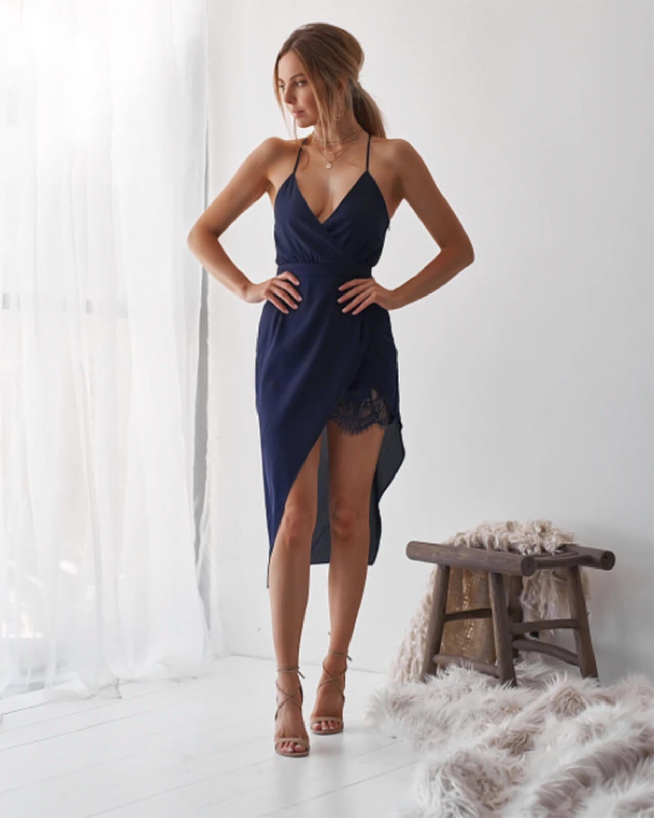 Lana Dress - Navy