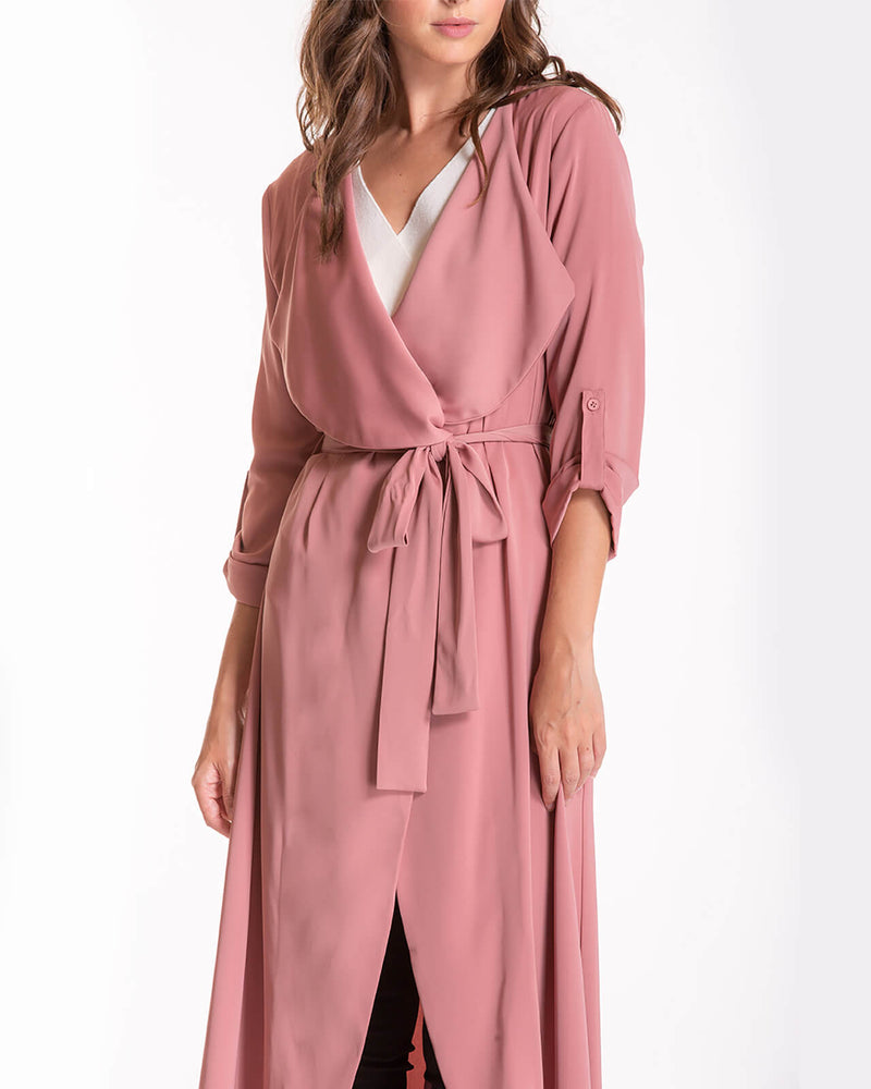 Leah Waterfall Jacket - Blush