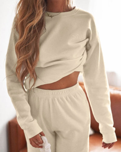 Luxe Fleece Crew - Sand