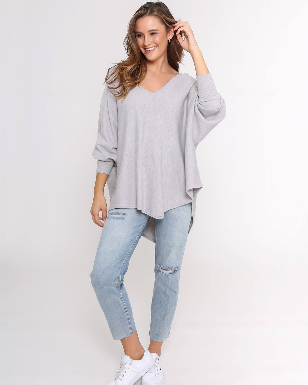 Zali Knit Top - Grey