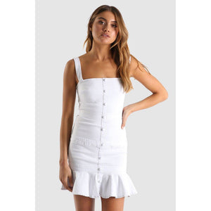 Casey Dress - White Denim